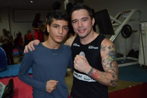 Rone Jason com o lutador de Jiu-Jitsu Ruan Gladson